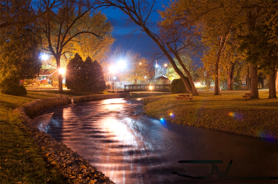 Scidmore Park in Three Rivers, MI (night)