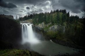 Dark Snoqualmie Falls