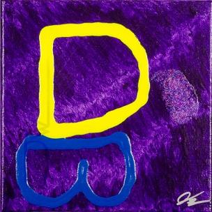 Fat Purple Sparkle Drop